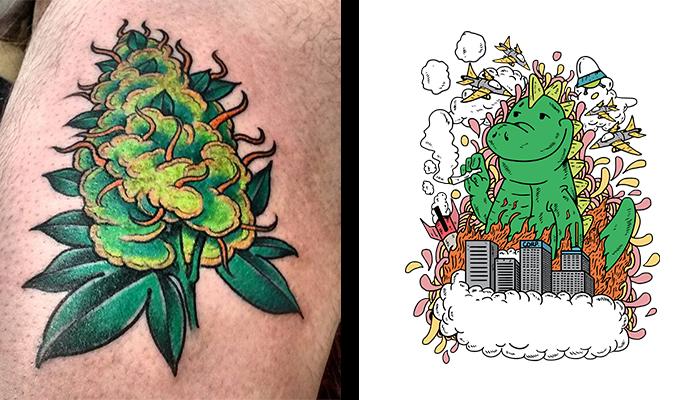 Luxury Smoke 420 Tattoo Designs - pixaby